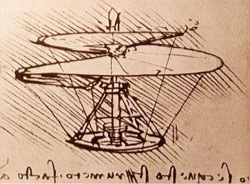 Helicóptero, Leonardo da Vinci